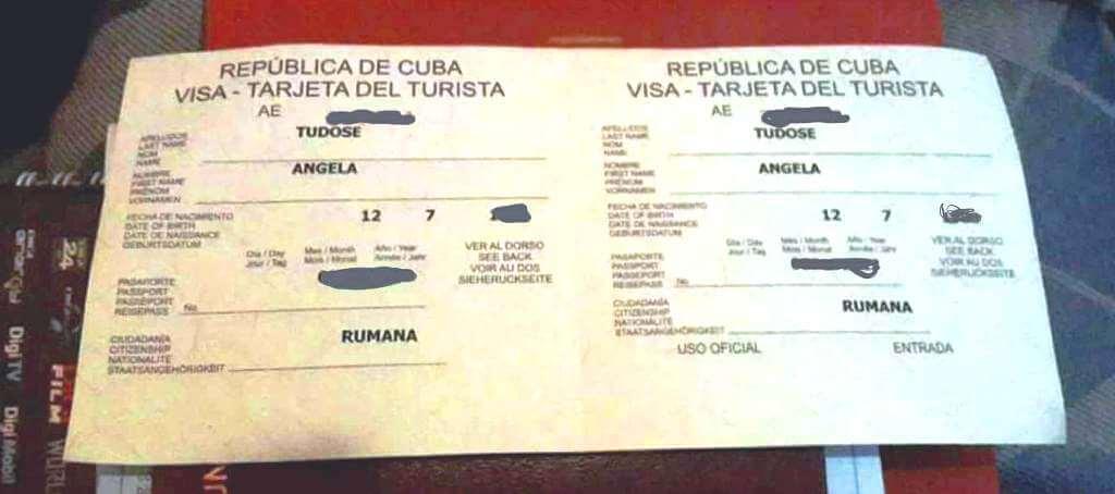 viză Cuba